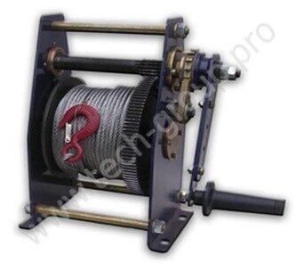 Электрическая схема тяговой лебедки ...